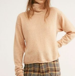 Free people Cashmere turtleneck sweater sz
